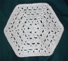 hexagonal dishcloth/washcloth (or afghan motif!) - (free instructions)