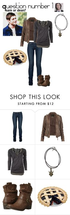 """question 1 spn 30 day challenge"" by nico-de-angelo ❤ liked on Polyvore featuring AllSaints, Maison Scotch, BareTraps, men's fashion, menswear, dean, spn, 30daychallengespn and spn30day"