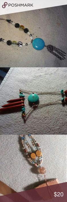 Native inspired necklaces Handmade and one of a kind native design necklaces ranging from 18 to 22 inches. jaxe's jewelry palate Jewelry Necklaces