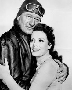 Maureen O'Hara and John Wayne starred in five movies together: Rio Grande (1950), The Quiet Man (1952), The Wings of Eagles (1957), McLintock! Description from pinterest.com. I searched for this on bing.com/images