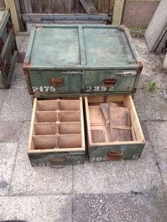 Legerkist archief kist transportkist