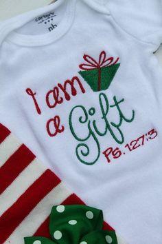Christmas Shirt Or Bodysuit For Girls Away In A Manger Red