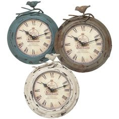 I pinned this Tulare Clock Set from the A Country Welcome event at Joss and Main!