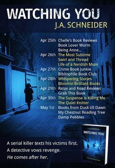 Watching You Blog Tour: Author Guest Post – CrimeBookJunkie