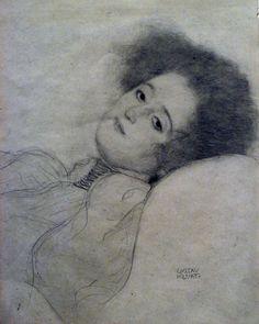 Gustav Klimt - Woman Reclining (Getty Museum)
