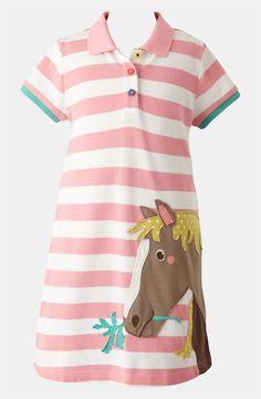 Mini Boden 'Fun' Appliqué Polo Dress (Toddler, Little Girls & Big Girls)