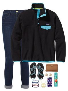 """""""Going to a bonfire cookout tonight with my friends!!! So excited"""" by thedancersophie ❤ liked on Polyvore featuring Frame Denim, Patagonia, Chaco, Tory Burch, Pura Vida and Accessorize"""