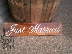 Just Married Sign by asimplyprimdecor on Etsy, $16.50
