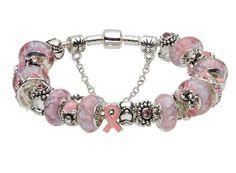 Pandora style pink ribbon charms murano glass beads beaded silver plated bracelet gifts jewelry for Breast Cancer Awareness (6.3inch) ALOV Bracelets,http://www.amazon.com/dp/B00BYL5R66/ref=cm_sw_r_pi_dp_.eA6rb16Q1KH0VF4