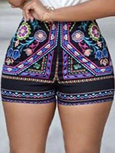 e5124527e1 Ladies Boho Flower Printed Slim Tight Beach Shorts #womensfashionbohoshorts  Shorts Online, Boho Shorts,