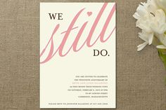 vow renewal/anniversary party