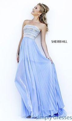 Floor Length Strapless Sherri Hill Dress at SimplyDresses.com