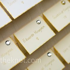 Gold Escort Cards