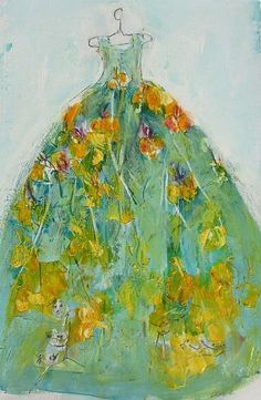 Christine Bowen Neidin Sky Flower Dress 21st century
