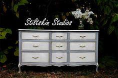 Stiltskin Studios: Gilded Grey Touraine Dresser