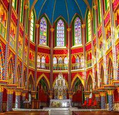 Catholic Art, Kirchen, Brazil, Beautiful Places, Fair Grounds, Painting, Dress, Religious Architecture, Vatican