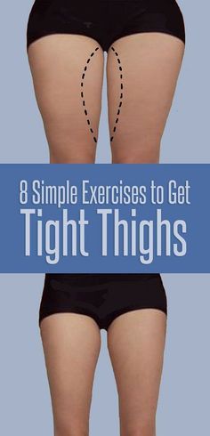 8 simple exercises to get tight thighs - women'z fitness фитнес йога, Killer Workouts, Easy Workouts, At Home Workouts, Fitness Workouts, Fitness Tips, Health Fitness, Butt Workout, Tighten Thighs, Fitness Factory