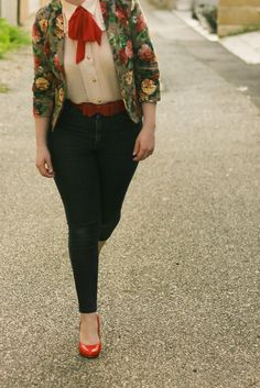 Floral Blazer, Jeans, and Me at the TPFF | Finding Femme