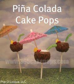 Piña Colada Cake Pop