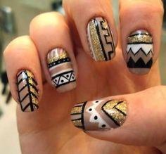 tribal fashion nails