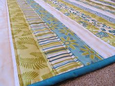Jelly roll quilt   This is my kind of quilt cutting!