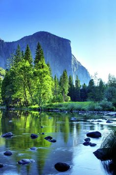 El Capitan and the Merced River, Yosemite National Park, California~. BEEN THERE!