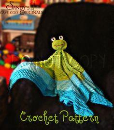 Froggie Blanket Crochet Pattern PDF 572 by SandysCapeCodOrig, $1.99