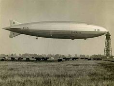 The British R101 airship. Design was based on first world war bomber Zeppelins