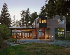 cliff house design eco friendly 12 Modern Home in Bainbridge Island with Sustainable Features: Ellice Residence