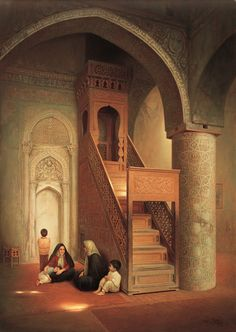 Mosque in Yaffa Islamic Architecture, Art And Architecture, Carl Spitzweg, Arabian Art, Islamic Paintings, Photo Images, Turkish Art, Historical Art, Islamic Pictures