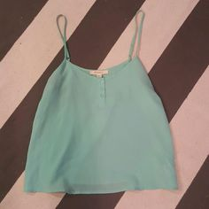 Forever 21 small aqua tank top Worn once  No rips tears or stains  Size small Forever 21 Tops Tank Tops