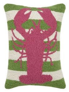 Lobster Stripe Hook Pillow