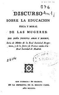 Mujeres en la historia: La ilustrada, Josefa Amar y Borbón (1749-1833)