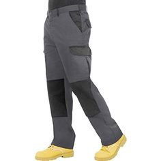 NUOVO Uomo Nero 6 Tasche Cargo Combat Outdoor Pantaloni Workwear Pantaloni Moda
