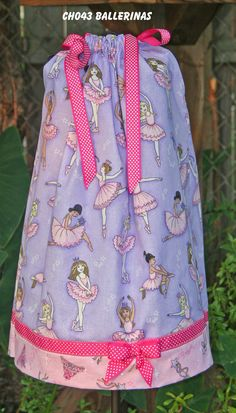 Boutique Pillowcase dress featuring by GiraffesJellybeans on Etsy, $21.99