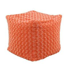A woven pouf in a happy orange is just the color pick-me-up any room needs. | $69