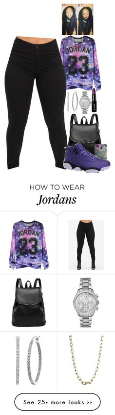 """Untitled #2020"" by basnightshine1015 on Polyvore featuring NIKE, Luv Aj, Michael Kors and NYX"