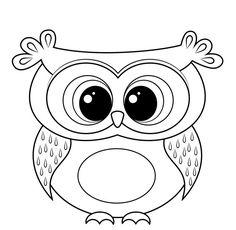 dessin hibou à imprimer et colorer - modèle original à motifs cercles