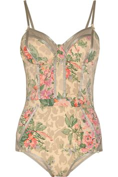 Zimmermann  Devoted floral-print swimsuit...... If I was thin lol
