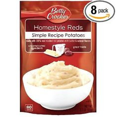 Betty Crocker Homestyle Reds, 100% Real Mashed Potatoes, 3.3-Ounce Packages (Pack of 8)