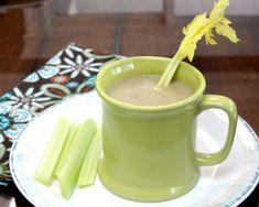 Cream of Celery Soup, another healthy soup ♥ A Veggie Venture Celery Recipes, Vegetable Soup Recipes, Ww Recipes, Meatless Recipes, Free Recipes, How To Thicken Soup, Cauliflower Hummus, Celery Salad, Lentil Burgers