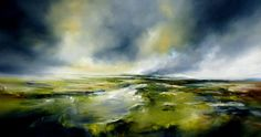 "Saatchi Art Artist Alison Johnson;  Pictura, ""engleză Land"" #art"