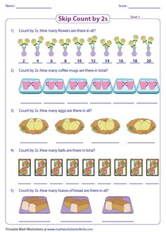Image result for skip counting worksheet 5s Skip Counting Activities, Counting Worksheet, Counting In 2s, Worksheets, Image, Literacy Centers, Countertops
