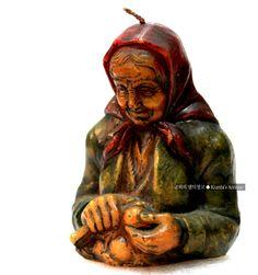 독일 바이에른 지방의 감자깎는 할머니 /독일작품초