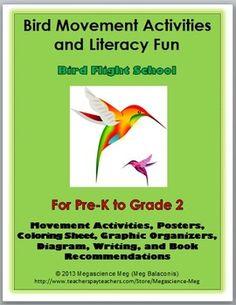 Bird Movement Activities and Literacy Fun