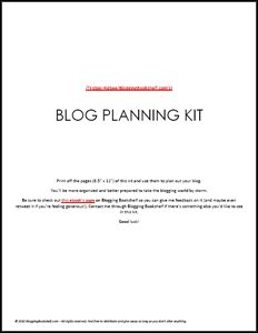 Plan and Launch Your Blog with The Blog Planning Kit (free PDF, no opt-in)
