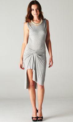 #ruched #uneven #dress #grey #summer #style #fashion #trend #outfit #publik #shoppublik www.shoppublik.com