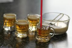 Ah! Mini beer jello shots! So cute~