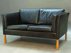 danish modern stouby black leather sofa black leather sofa office