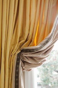 "2 Elegant Decorative DRAPERY TIE-BACKS  w//10/"" Tassel  CREAM MIX  Curtain Trim BC"